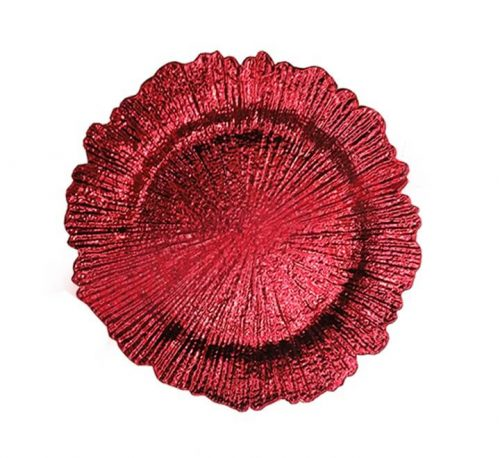 Splash Red Plastic Underplate