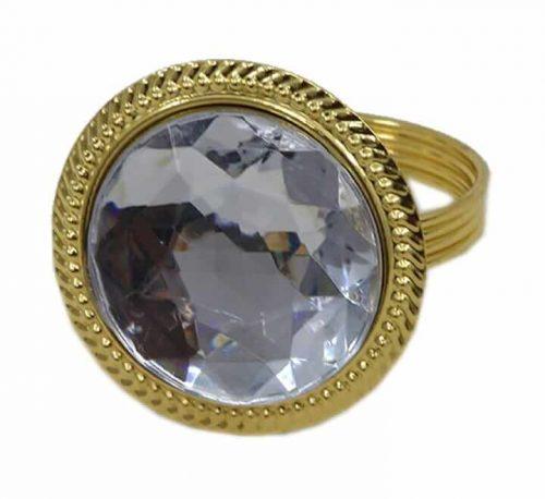 Plastic Napkin Ring Gold