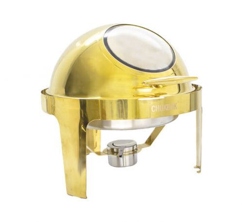 Round Roll Top Gold Chafing Dish