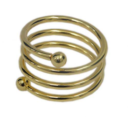 Spring Napkin Ring Gold